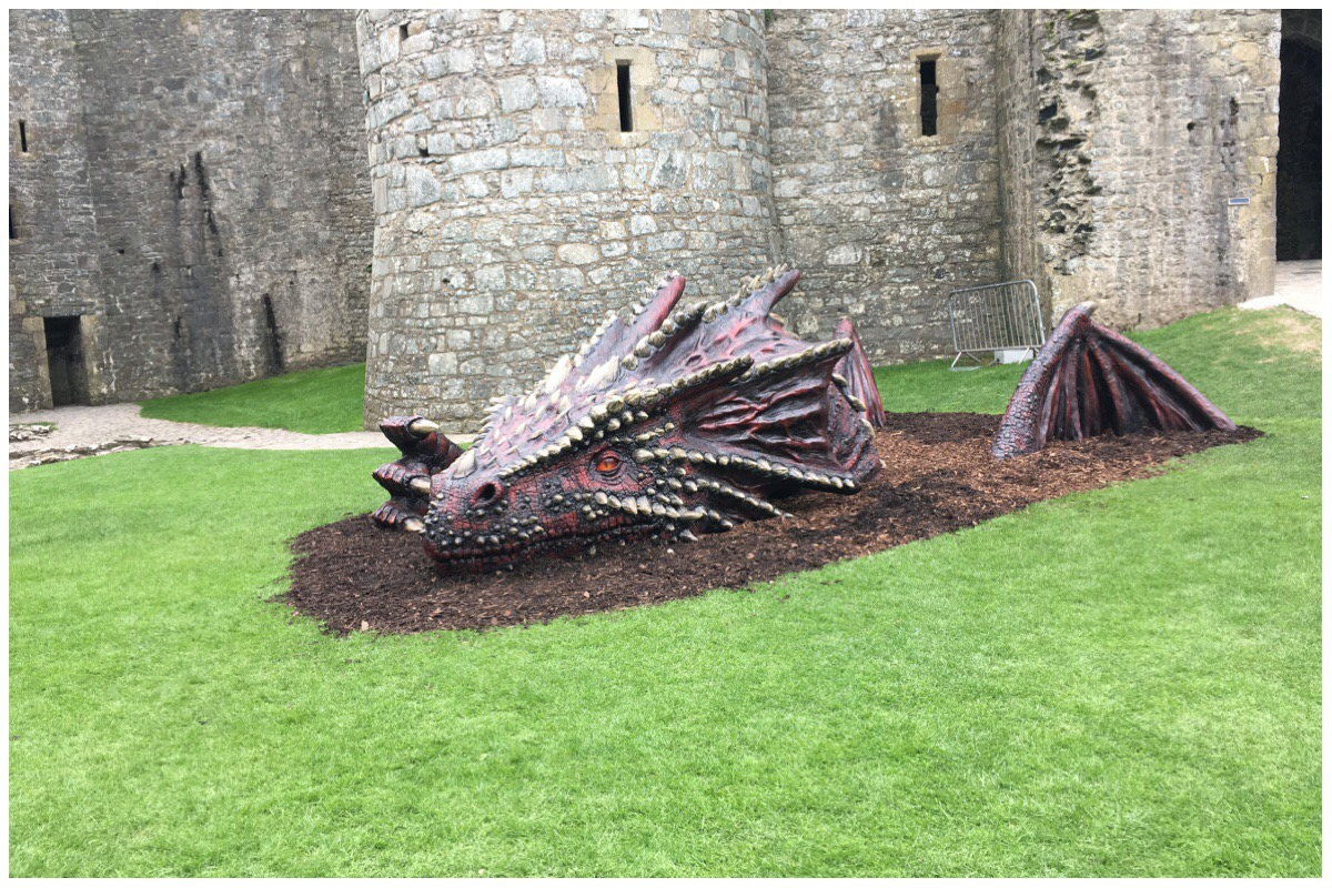 The dragon has landed at Harlech Castle
