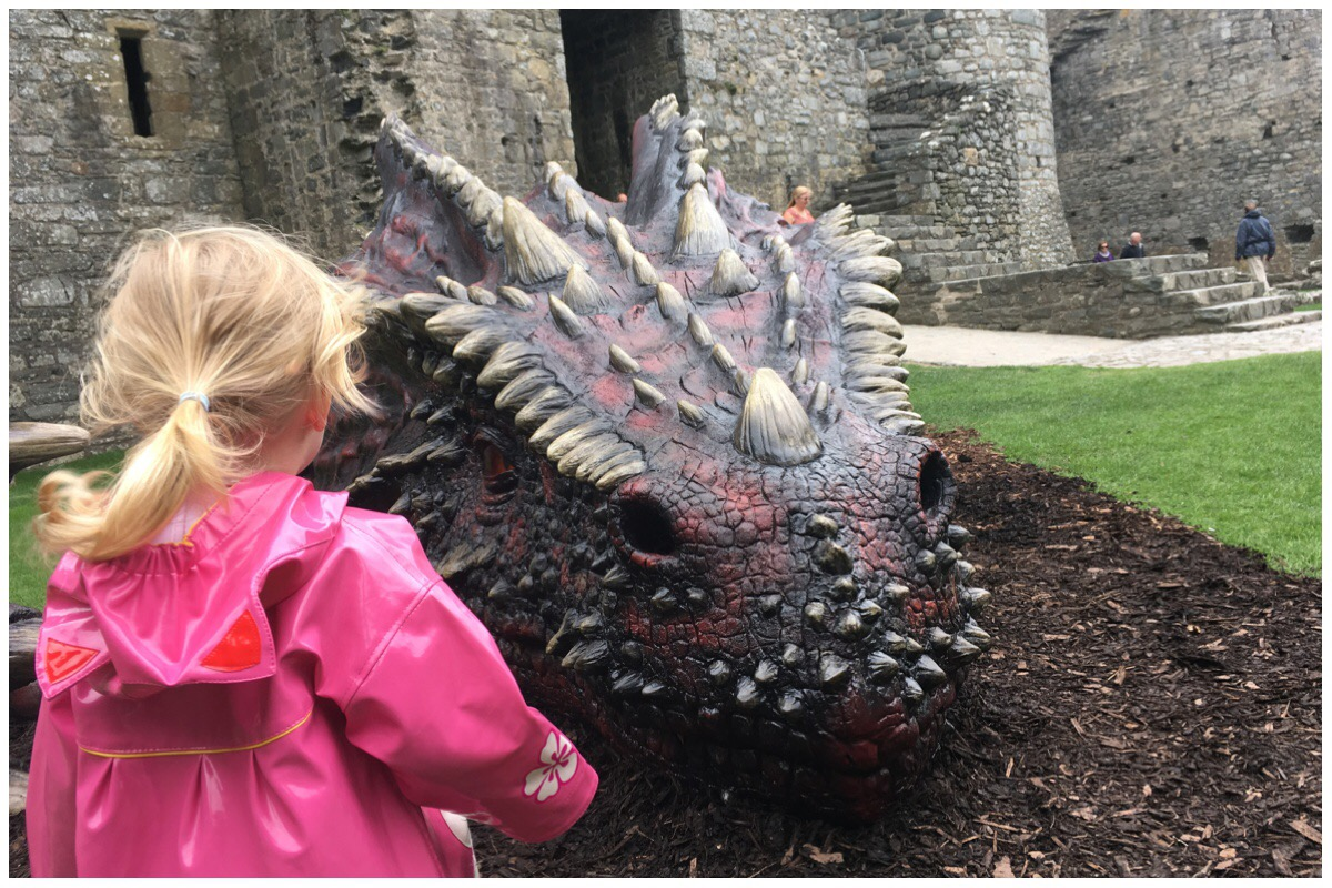 Little Miss eyeing up the dragon